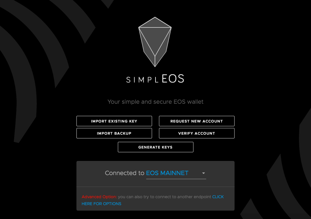 How to register EOS wallet