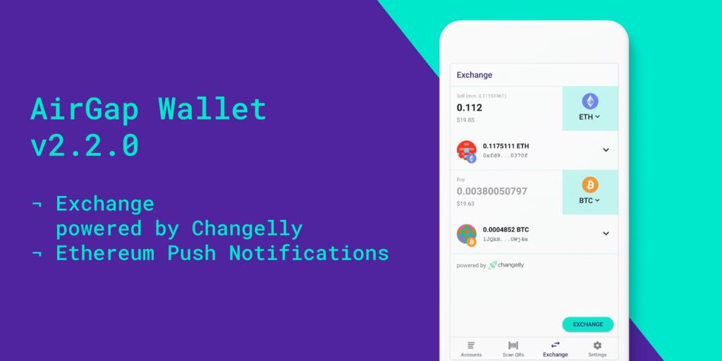 Changelly partners AirGap wallet