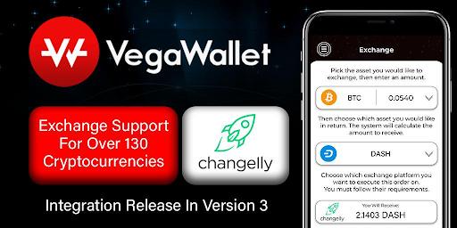 Changelly partners VegaWallet