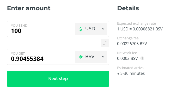 Buy BSV at Changelly