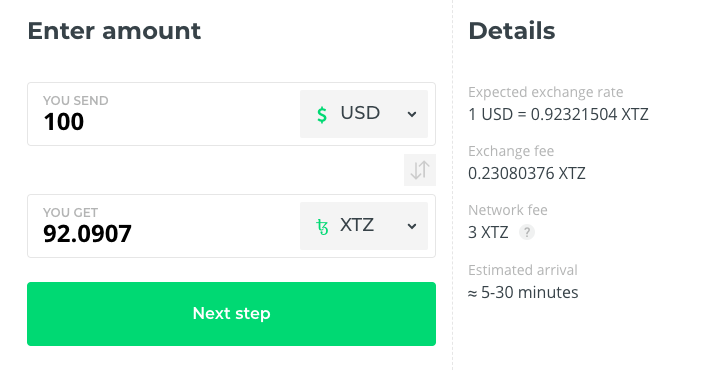 buy tezos xtz at changelly