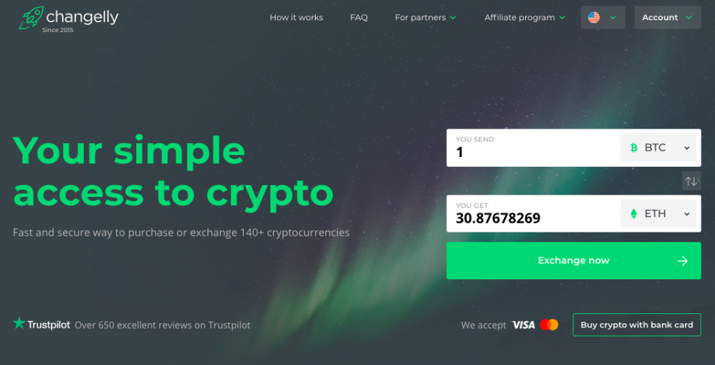 buy crypto at Changelly