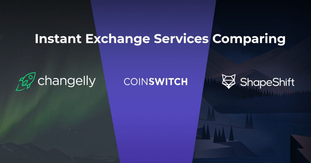 instant crypto exchange comparison