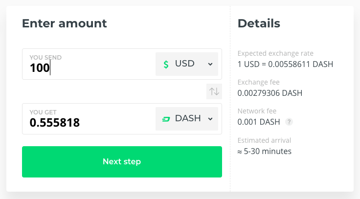 Buy DASH @ Changelly