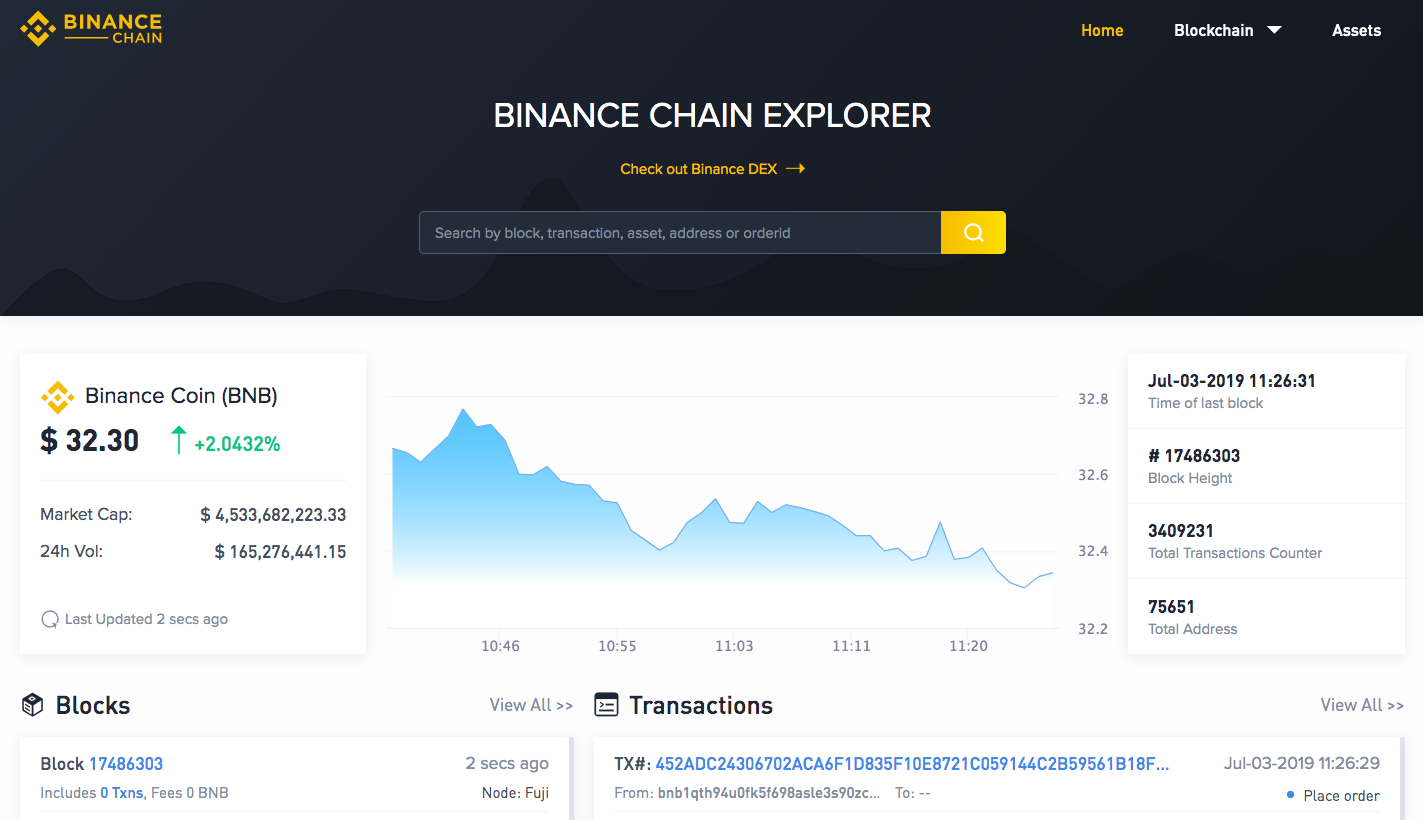 Binance Chain Explorer
