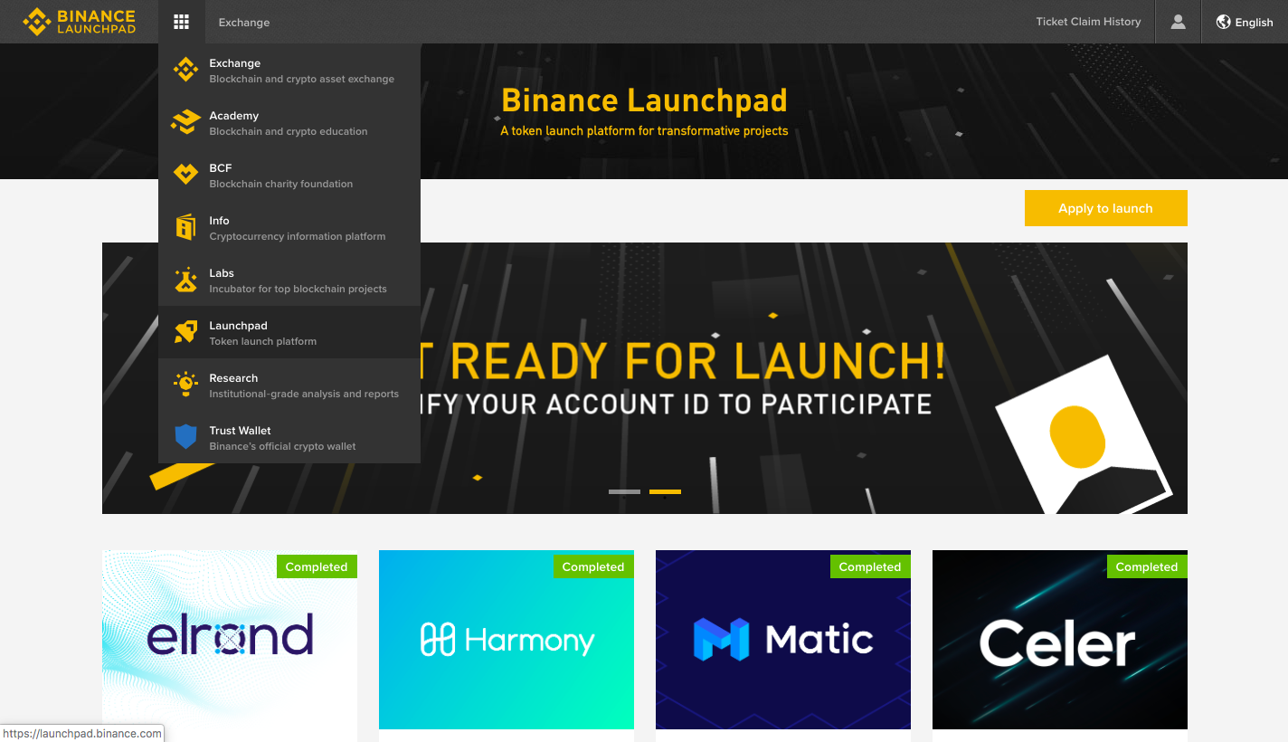 Binance Home Page