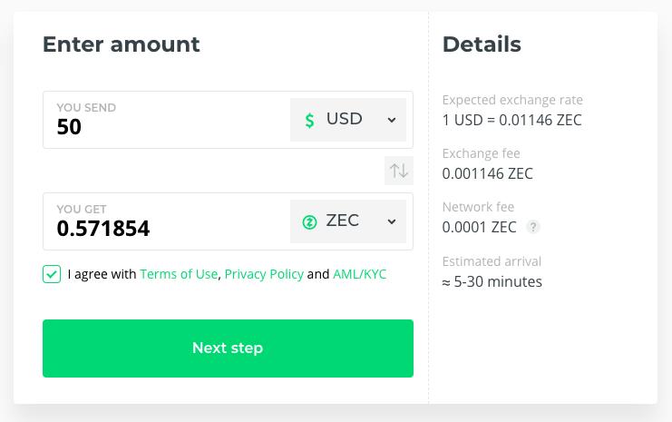 Buy Zcash (ZEC)