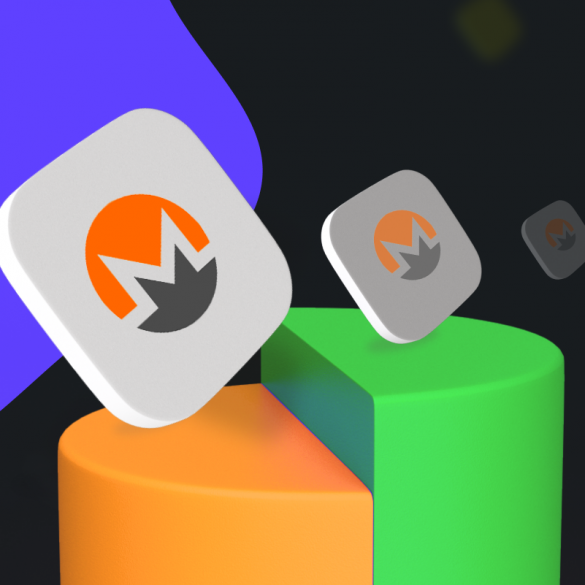 monero xmr cryptocurrency article cover with the logo on it