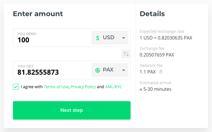 Buy PAX Stablecoin