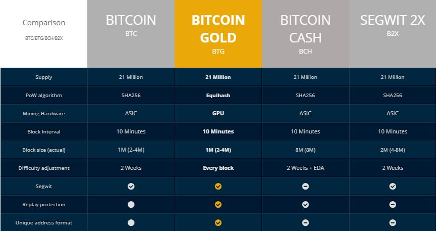 Peculiarities of Bitcoin Gold