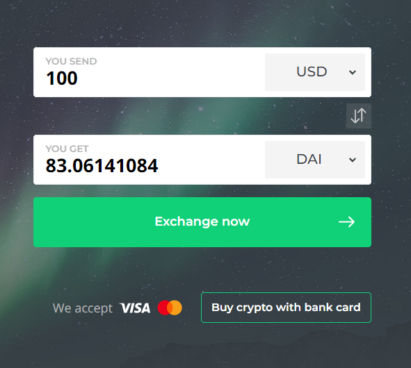 Buy DAI at Changelly
