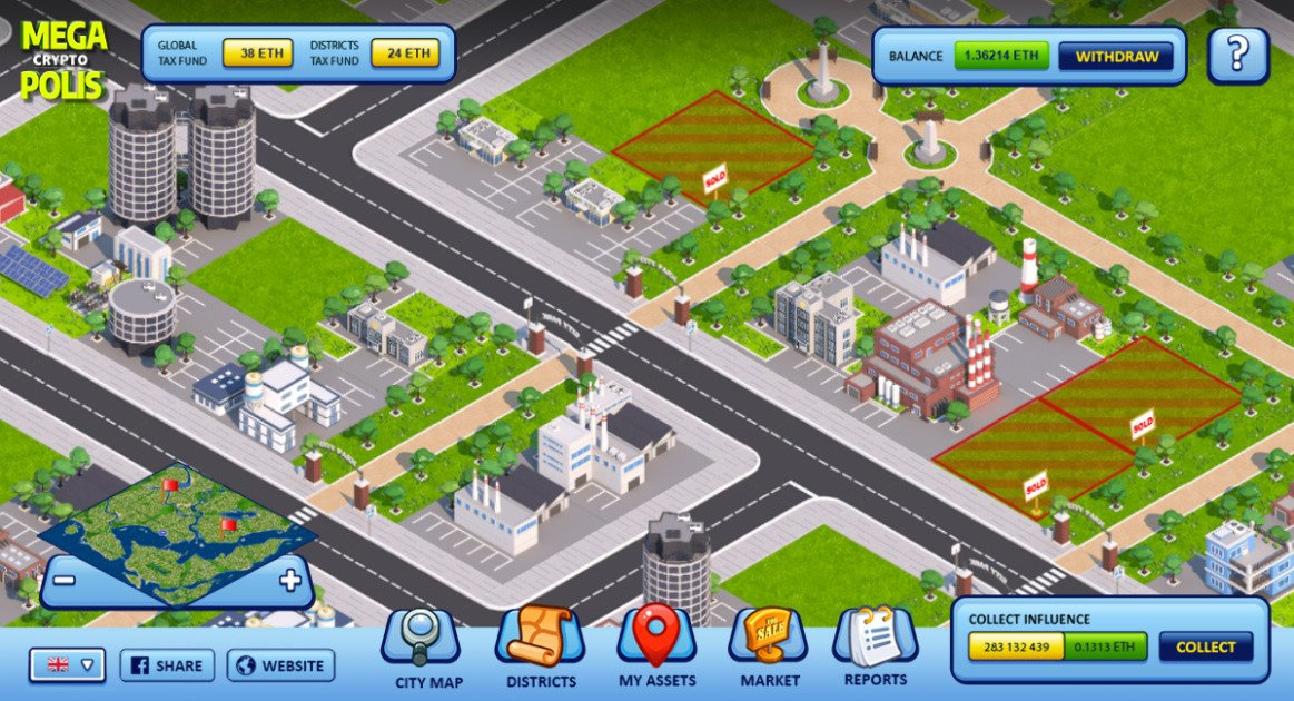 MegaCryptoPolis game