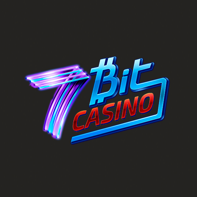 7bit casino logo made in neon colors