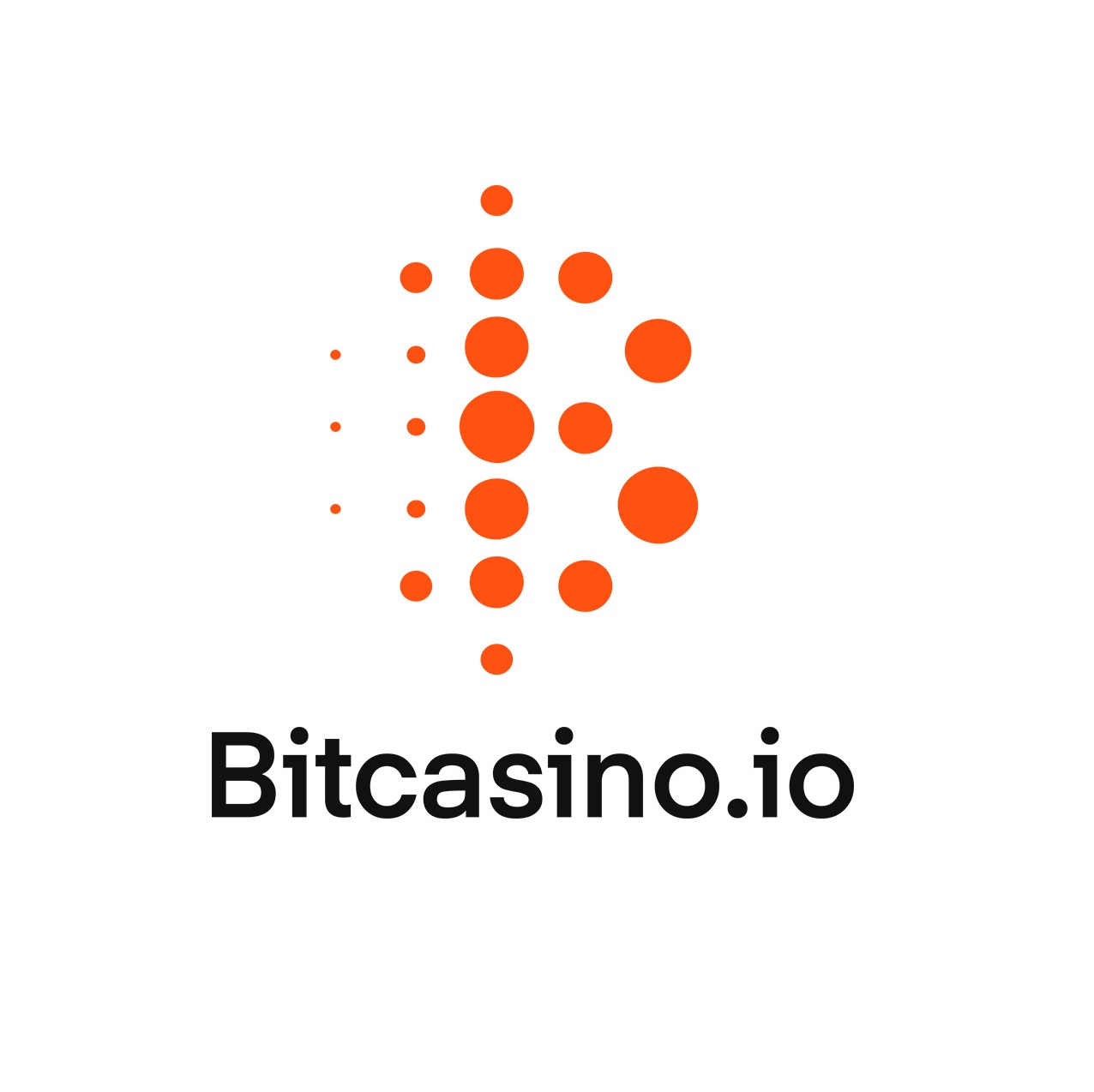Bitcasino logo with the B letter formed by dots