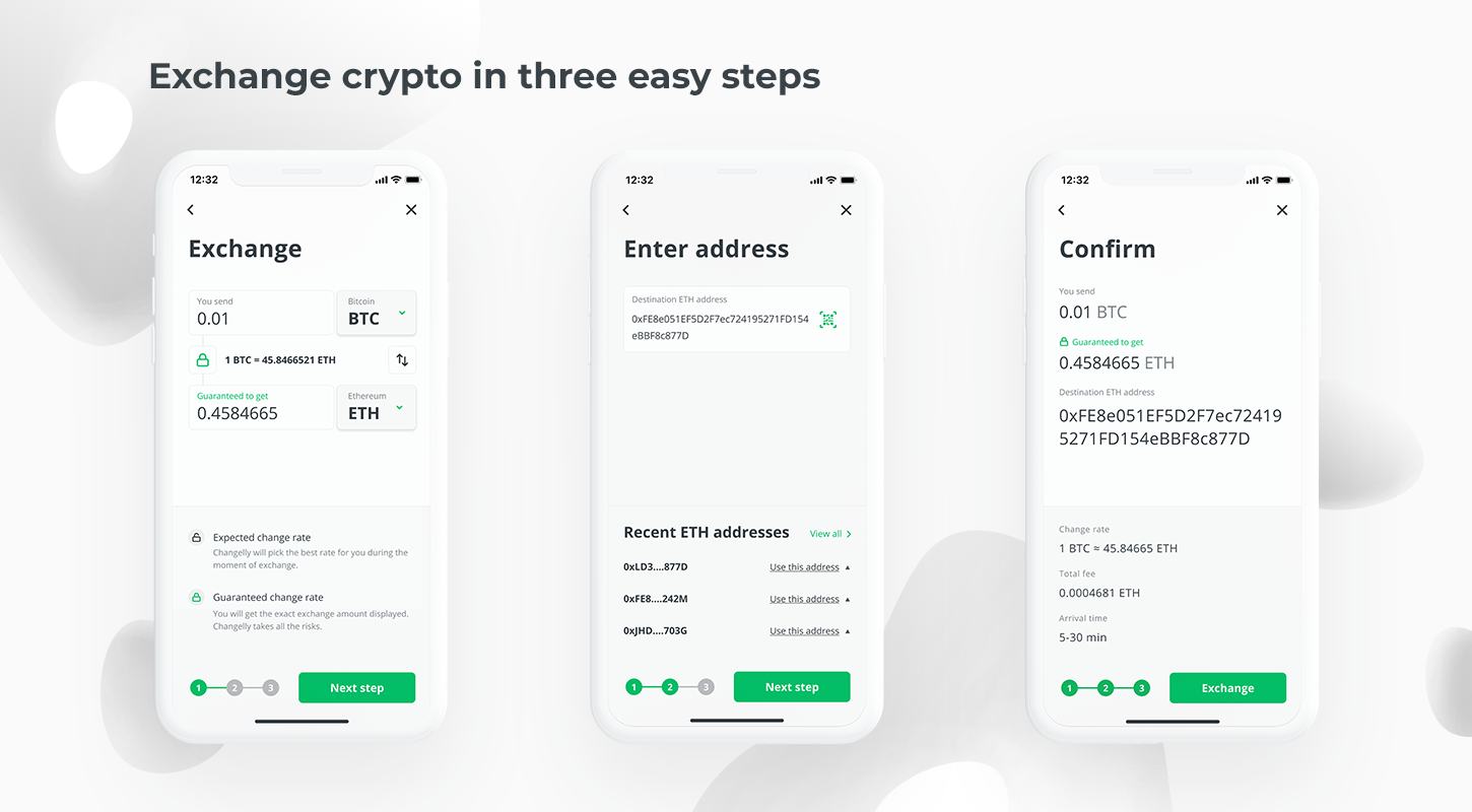 trade crypto in changelly mobile app on ios and google play