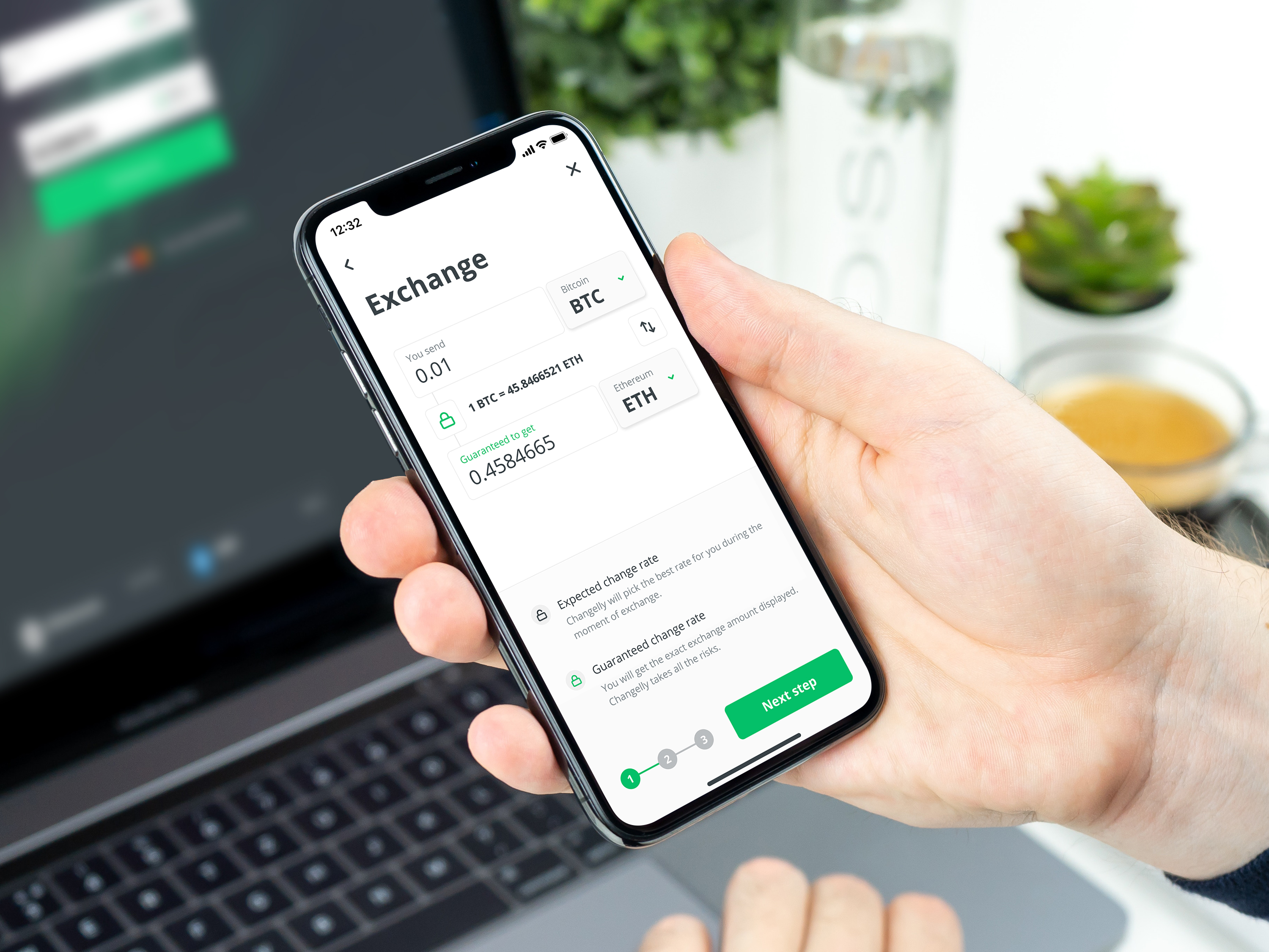 Exchange crypto on the go with changelly