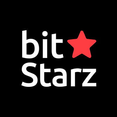 bit starz casino logo with red star on the black background