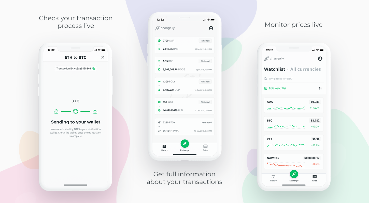Changelly iphone mobile app download in App Store