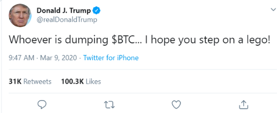 Trump about BTC fall
