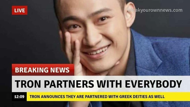 justin sun partnership
