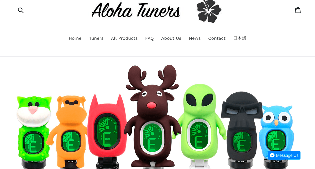 Aloha Tuners website