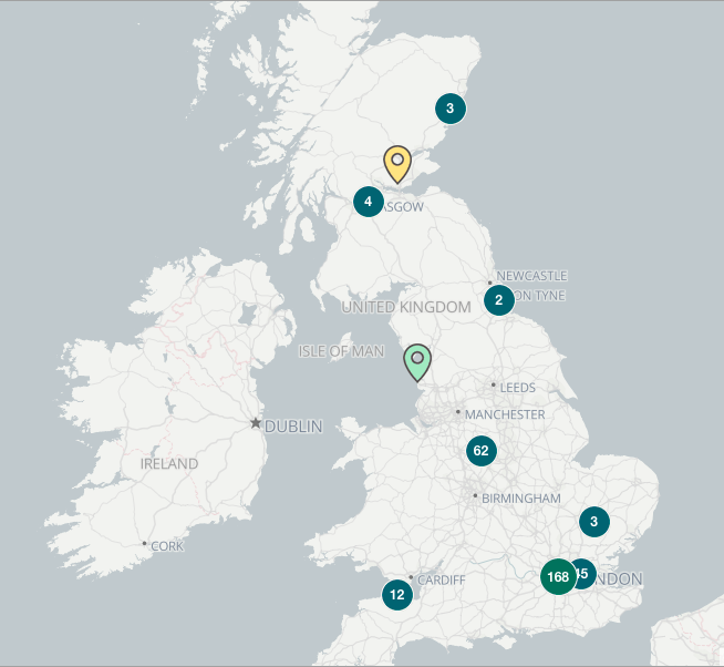 UK Crypto ATM Map