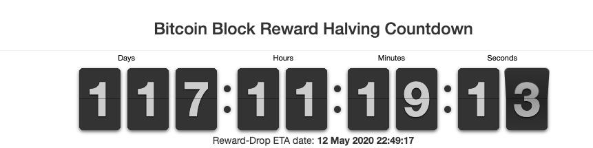 Bitcoin (BTC) halving countdown
