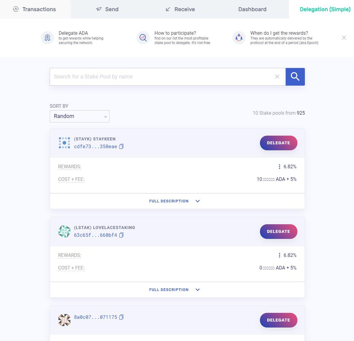 Yorol wallet interface
