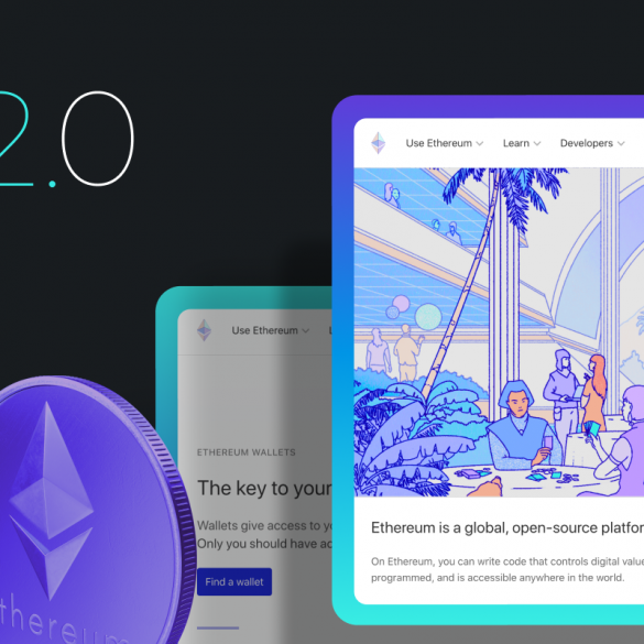 ethereum 2.0 article cover with ethereum logo