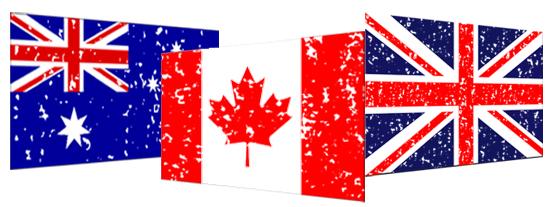 canadian australian british flags