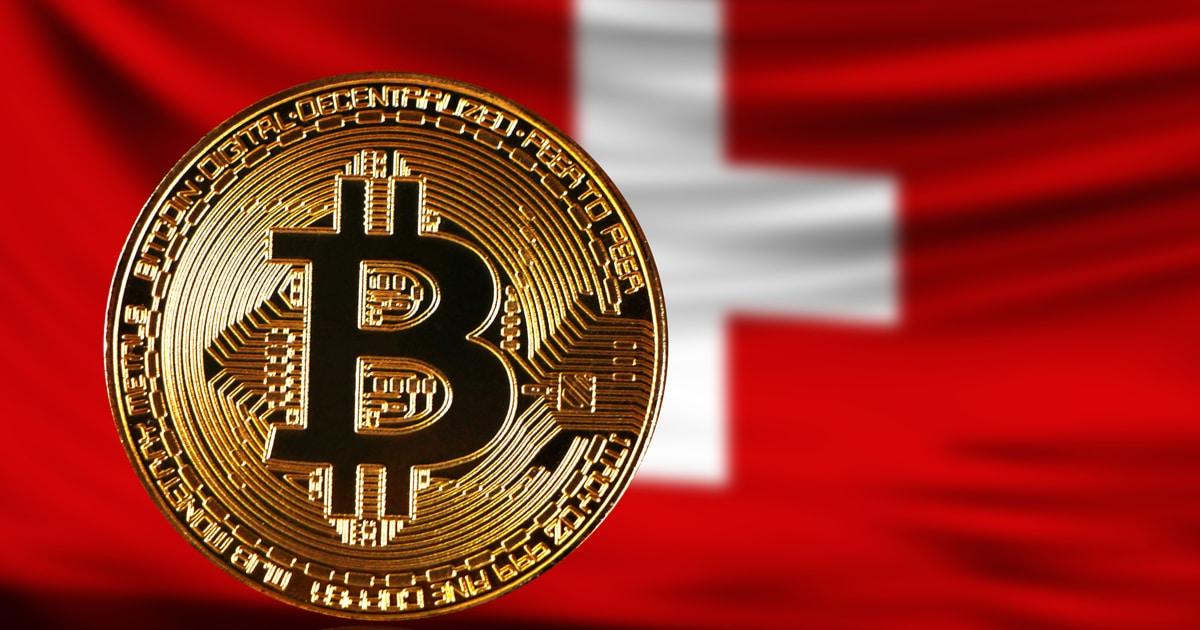 swiss flag and bitcoin