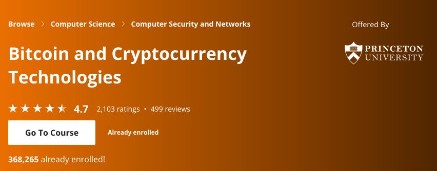 btc and crypto technologies by princeton university