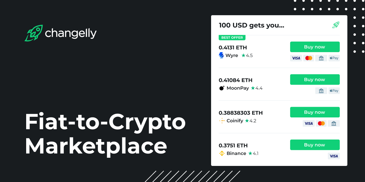 Changelly Launches Fiat-to-Crypto Marketplace