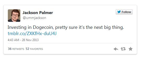 tweet of palmer about doge