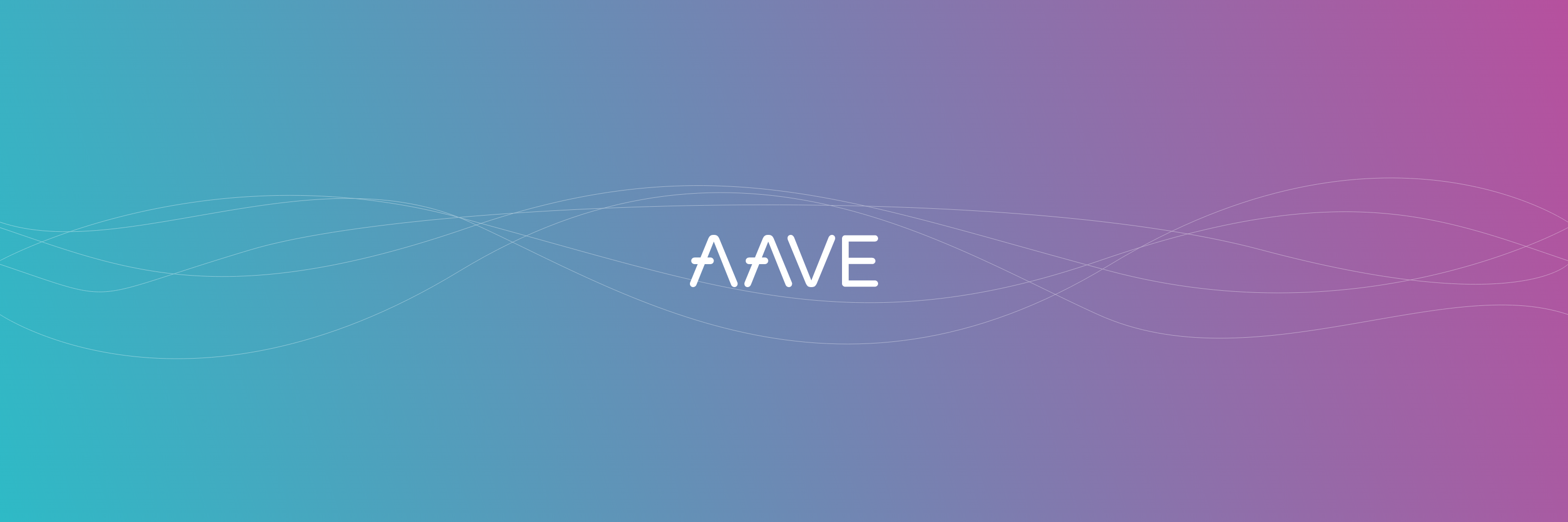 aave cryptocurrency banner on the gradient background