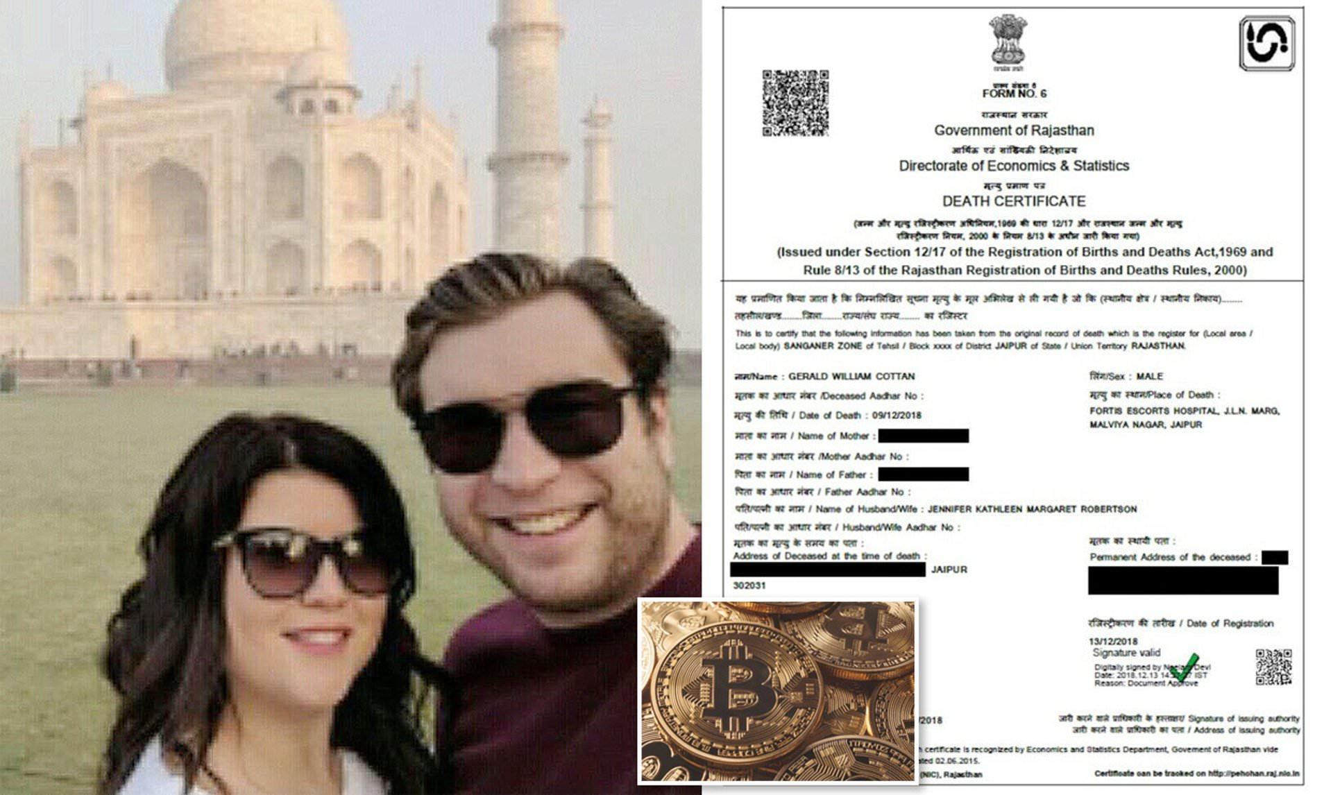 quadrigacx death certificate photo