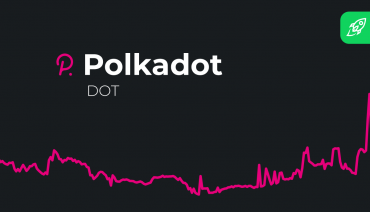 cover for the article about polkadot cryptocurrency price prediction with the coin's logo and price graph