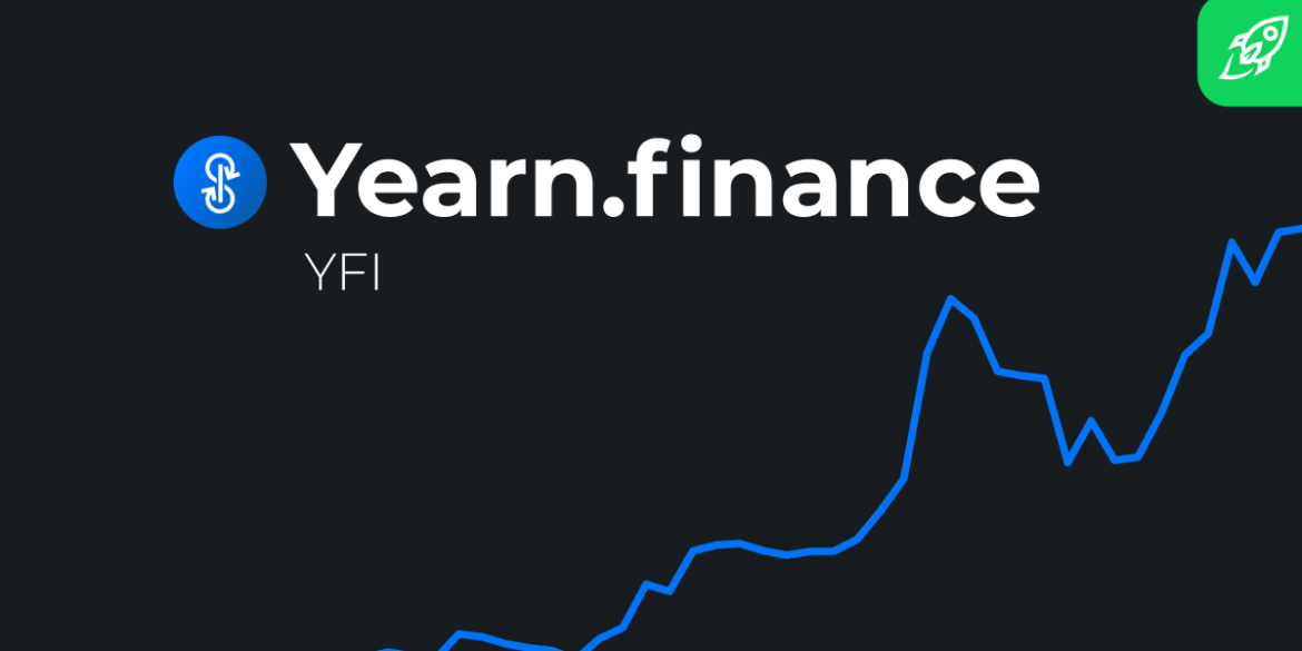 Yearn.finance (YFI) Price Prediction for future article cover with charts and logo