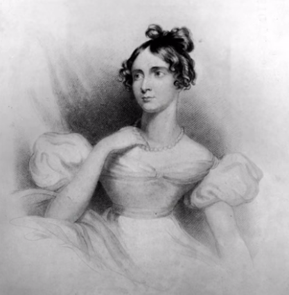 Paint of Ada Lovelace is a daughter of Byron and the first ever programmer