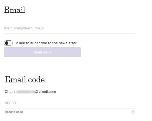 e-mail section mercuryo