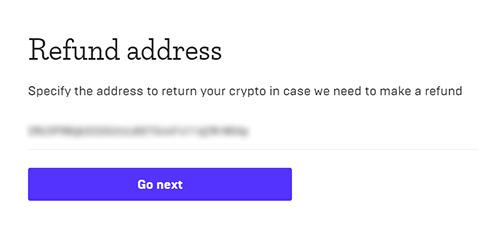 refund address