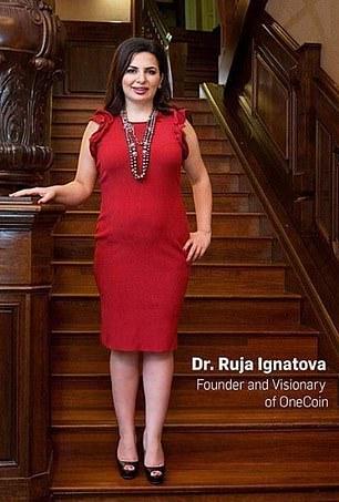 doctor ruja ignatova in a red dress