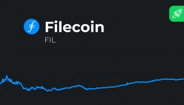 prédiction de prix filecoin avec logo fil token et tableau de prix