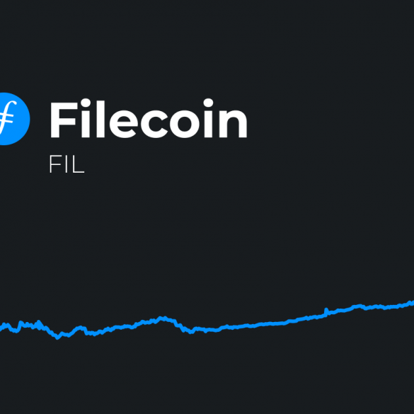 filecoin price prediction with fil token logo and price chart