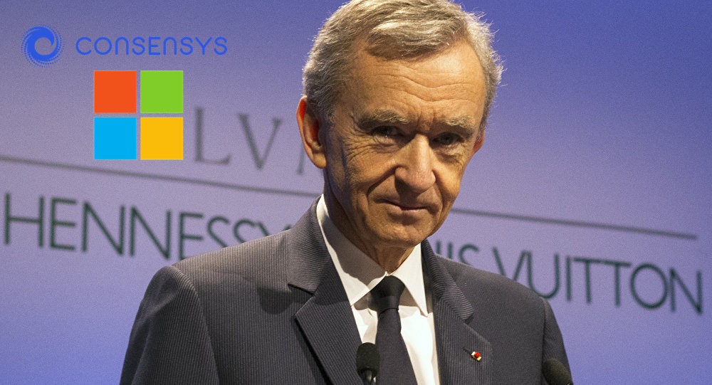 president of LVMH partners with Microsoft and Consensys