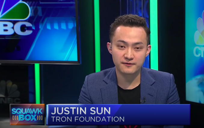 justin sun from tron foundation photograph