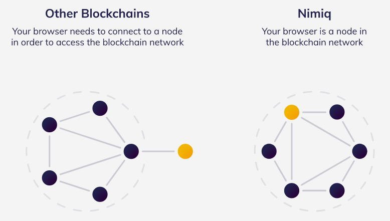 the schemes of two blockchains: nimiq and any other