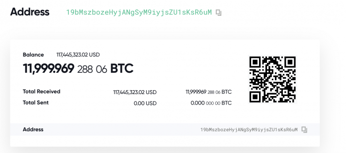 One of the Plustoken transactions which caused a dump of BTC