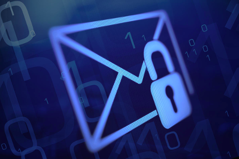 Email logo with lock showing email security
