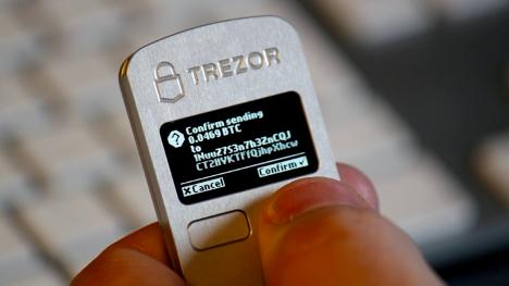 Hardware wallet trezor USB
